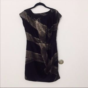 Mossimo Black and grey abstract dress